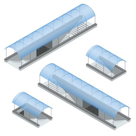 underground passage: Isometric pedestrian subway under the highway - underground passage Illustration