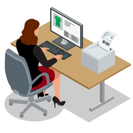 Donna d'affari guardando lo schermo del computer portatile.