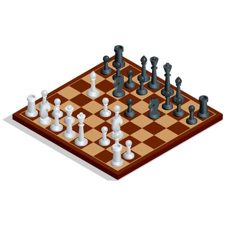Scacchiera, gioco di scacchi. Vettoriali