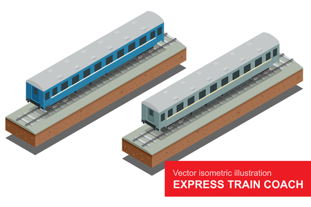 fast train: Vector isometric illustration of a Fast Train.