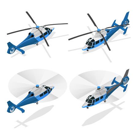 Helicópteros aislados en blanco