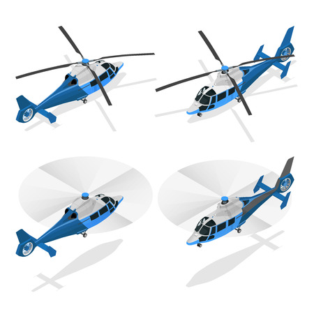 Helikopters geïsoleerd op wit