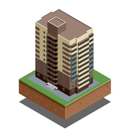 family units: Isometric buildings real estate