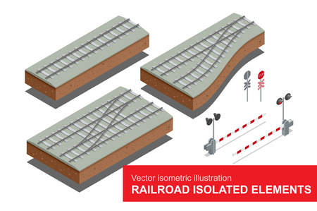 rail: Railroad isolated elements for rail freight transportation.