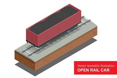 bulk: Open rail car for transportation of bulk cargoes.