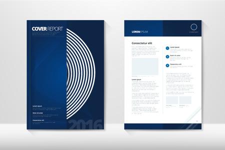 informe: Cubierta moderna Informe Anual del folleto - folleto de negocios - portada del catálogo, diseño de folletos, tamaño A4, la portada y la contraportada. Fácil de utilizar y editar. Modelo del vector Disposición Vectores