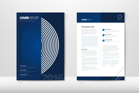 Modern Cover Annual Report Brochure - business brochure - Catalog Cover, flyer design, size A4, front page and back page. Easy to use and edit. Vector Layout template Imagens - 52428599