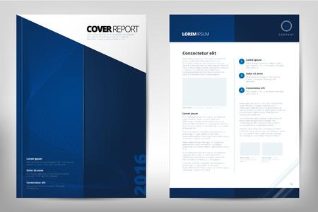 モダンな年次報告書パンフレット - パンフレット - カタログ カバー、フライヤーのデザインのサイズが A4、フロント ページと裏のページ。使いやす  イラスト・ベクター素材