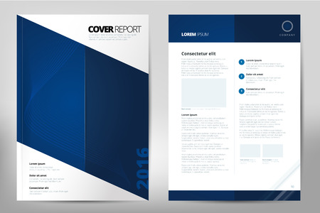 Modern Cover Annual Report Brochure - business brochure - Catalog Cover, flyer design, size A4, front page and back page. Easy to use and edit. Vector Layout template Фото со стока - 52428601