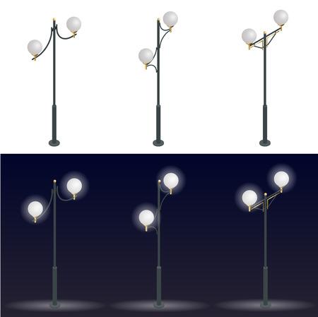 streetlight: Street lantern. Streetlight. 3D flat vector isometric illustration. 3d flat vector isometric illustration Illustration
