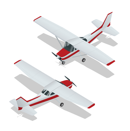 aereo: Illustrazione vettoriale di un aereo. volo aereo. icona del piano. Aereo vettore. Aereo di scrittura. Aereo 3d piatta vettoriale. piano assonometrico Vettoriali