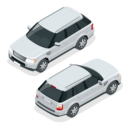 Off-road car. Vector illustration travel car.