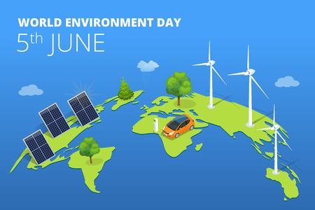 世界环境日的概念。