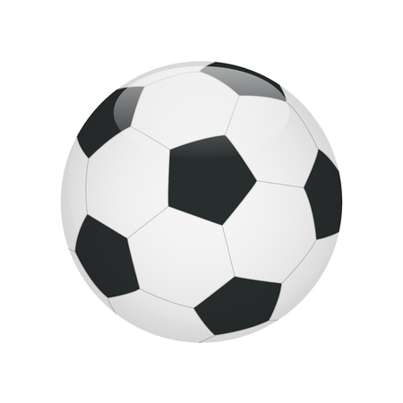 soccerball: Soccer ball. Soccer ball icon.  Flat 3d vector illustration