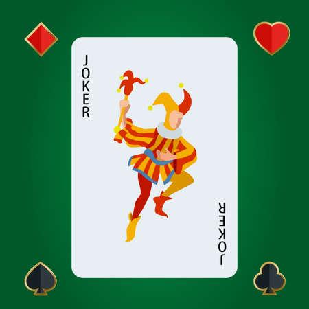 joker playing card: Joker playing card. Joker dark blue backside background. Joker Vector. Joker illustration Illustration