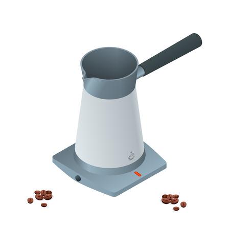 copy machine: Coffee machine isolated on white. Flat 3d vector isometric illustration Illustration