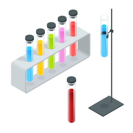 test tube: Chemical test tube pictogram icons set.