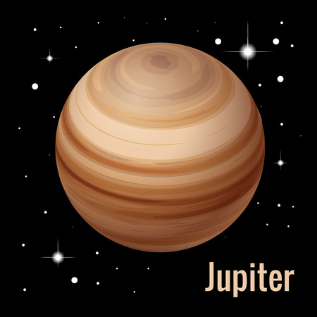 Jupiter planet 3d vector illustration. High quality isometric solar system planets
