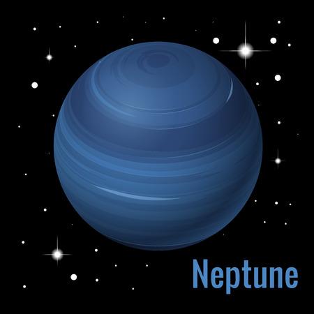 Neptune planet 3d vector illustration. High quality isometric solar system planets Vettoriali
