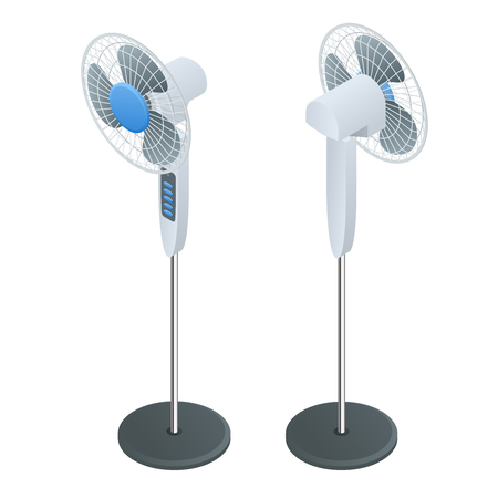 stranded: Isometric Fan. Home climate equipment isometric icon. Air Cooling