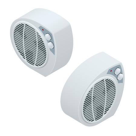 home heating: Isometric electric heater. Home Heating appliances icons. Household appliances