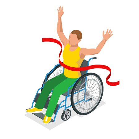 Isometric sports for peoples with disabled activity. Sport competitions Handicapped sportsmen.