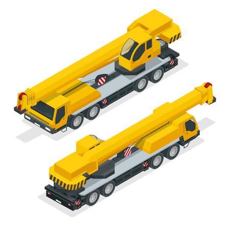 telescopic: Detailed illustration of crane, heavy equipment and machinery Illustration