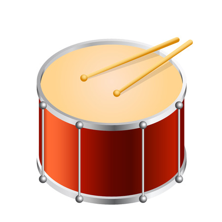 bass drum: Isometric Bass drum vector isolated on white. Flat vector illustration