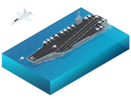 핵 동력 항공 모함에 할당 된 항공기. 아이소 메트릭 벡터 미국 해군의 원자력 항공 모함