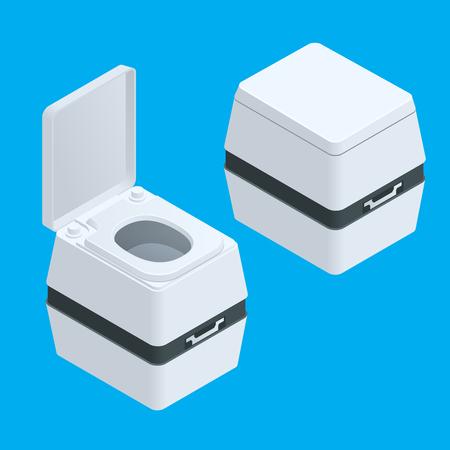 composting: Isometric Small bio toilet isolated on white illustration