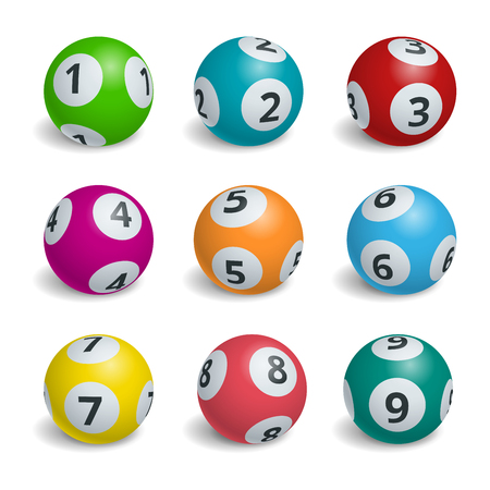 Ball lottery numbers. Stock Illustratie