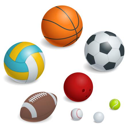 Isométriques Sport Balls Set. Vecteurs
