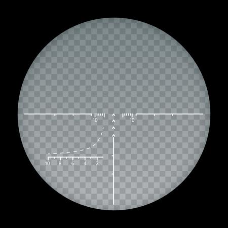 透明な背景、十字および目的ベクトル イラスト web デザインでスタイリッシュに分離されたターゲット視力狙撃記号