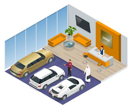 le auto in commercio colorati stand in negozio auto