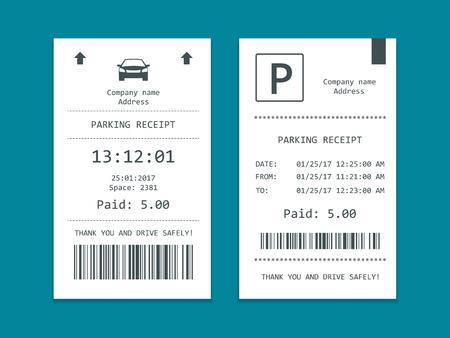 駐車場のチケット等尺性のセットです。Web のフラット イラスト アイコン
