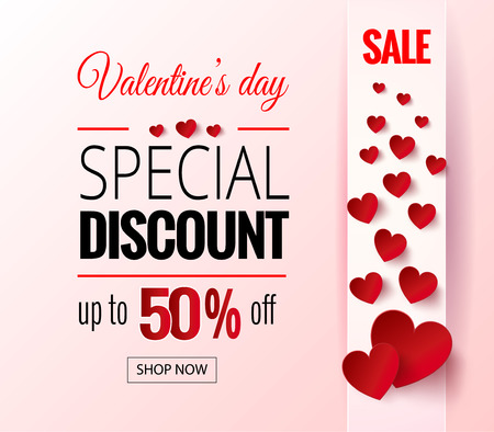 Valentines Day sale flayers. Stock Photo
