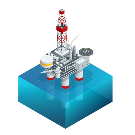 operation for: Isometric platform for production oil and gas, Oil and gas industry and hard work, Production platform and operation process by manual and auto function.