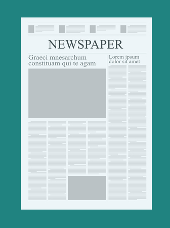 Blank Newspaper Template | Graphical Design Newspaper Template Highlighting Figures And