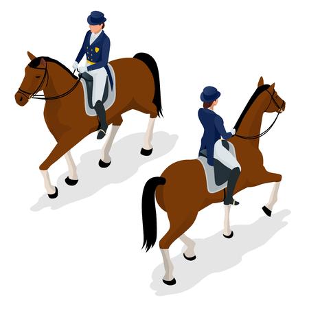 Jockey sur le cheval. Banque d'images - 89428022