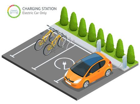 Voeding voor laden van elektrische auto's.