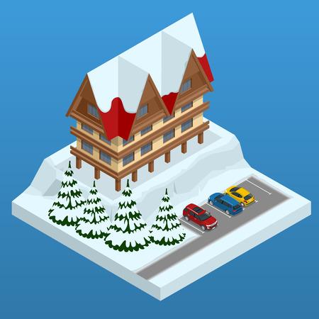 Ski resort icon. Illustration