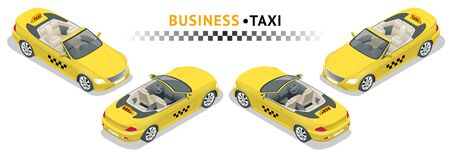 Isometric high quality city service transport icon set. Ilustracje wektorowe