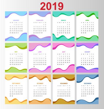 Template calendar 2019. 写真素材