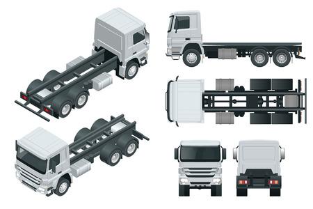 Truck tractor or semi-trailer truck.