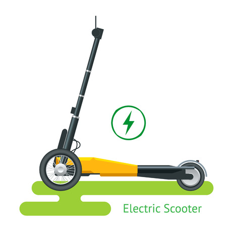 Electric Scooter on the road.