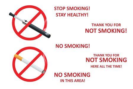 Stop smoking cigarettes concept.