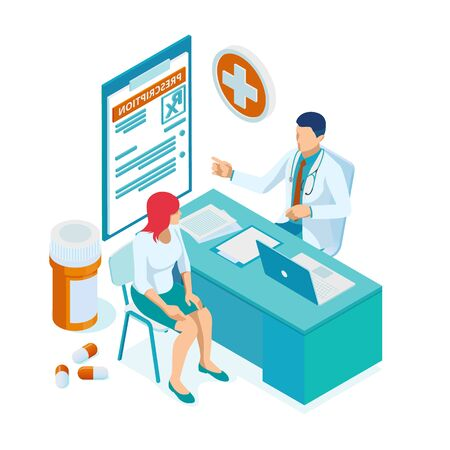 Online doctor at work. Health medical science. Medicine and pharmacy banners. Pharmacist care for the patient. Medicine industry