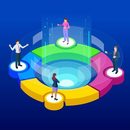 Isometric Referral marketing concept.