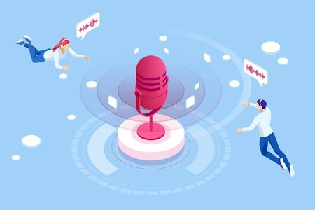 Voice message or recording voice. Musical melody design.