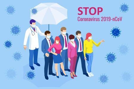 Coronavirus outbreak. Coronavirus 2019-nC0V Outbreak, Travel Alert concept. The virus attacks the respiratory tract, pandemic medical health risk.